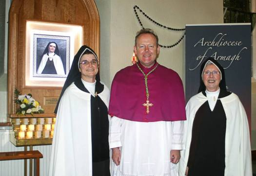 Sr. M. Therese Eileen of All Saints Mulvaney, Archbishop Eamon Martin and SR.Mary of Jesus O'Donovan