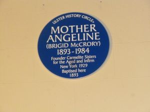 Ulster History Circle Plaque to Mother Angeline 24 Oct '14