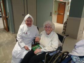 Sr. Angelica Rose Mora with Resident
