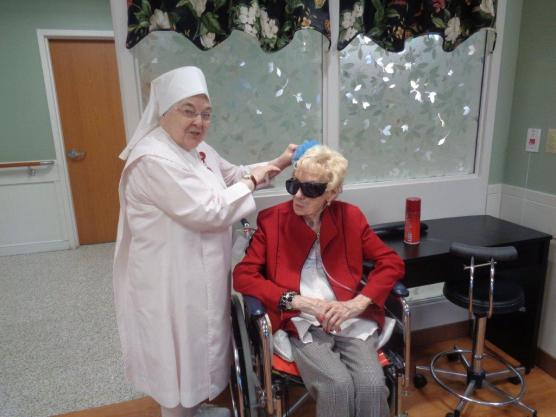 Sr. Mary Ann Wasilko with Resident