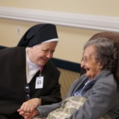 Sr. Winifred Angeline Jordan, O.Carm with a resident